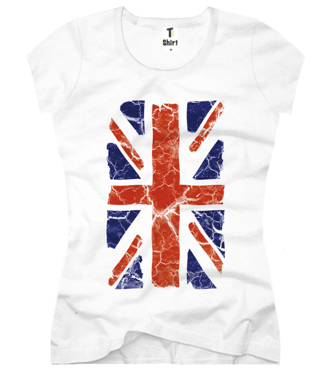 T-Shirt Damen England Union Jack
