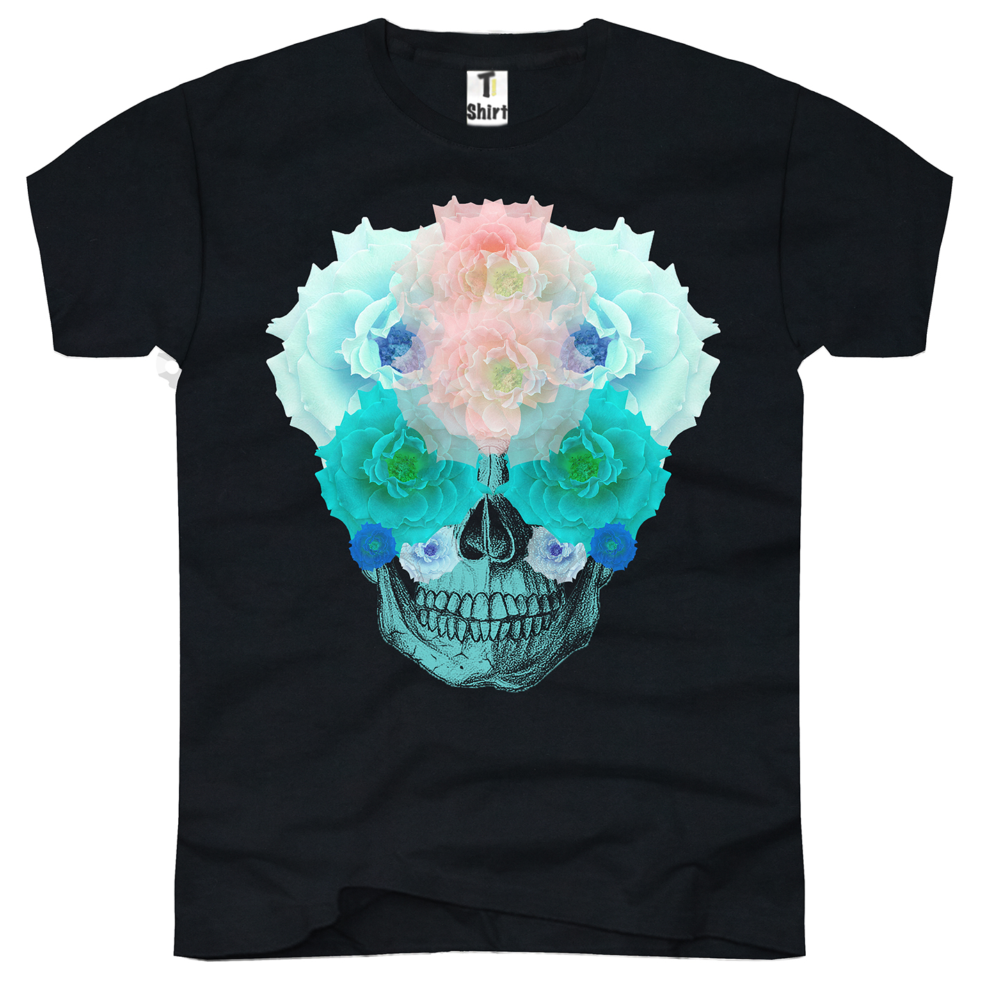 blumen totenkopf t shirts shirts und tops f mit exklusiven motiven. Black Bedroom Furniture Sets. Home Design Ideas