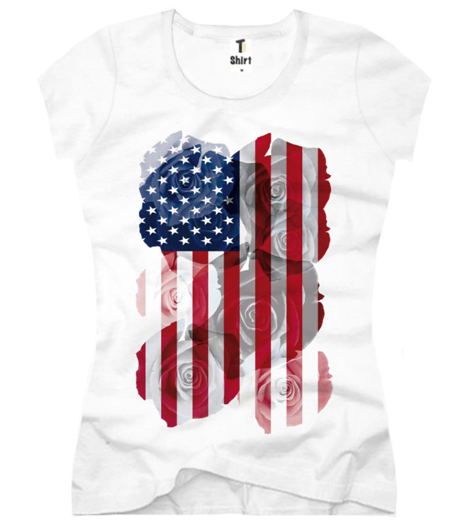 Damen T-Shirt USA Jersey-Shirt