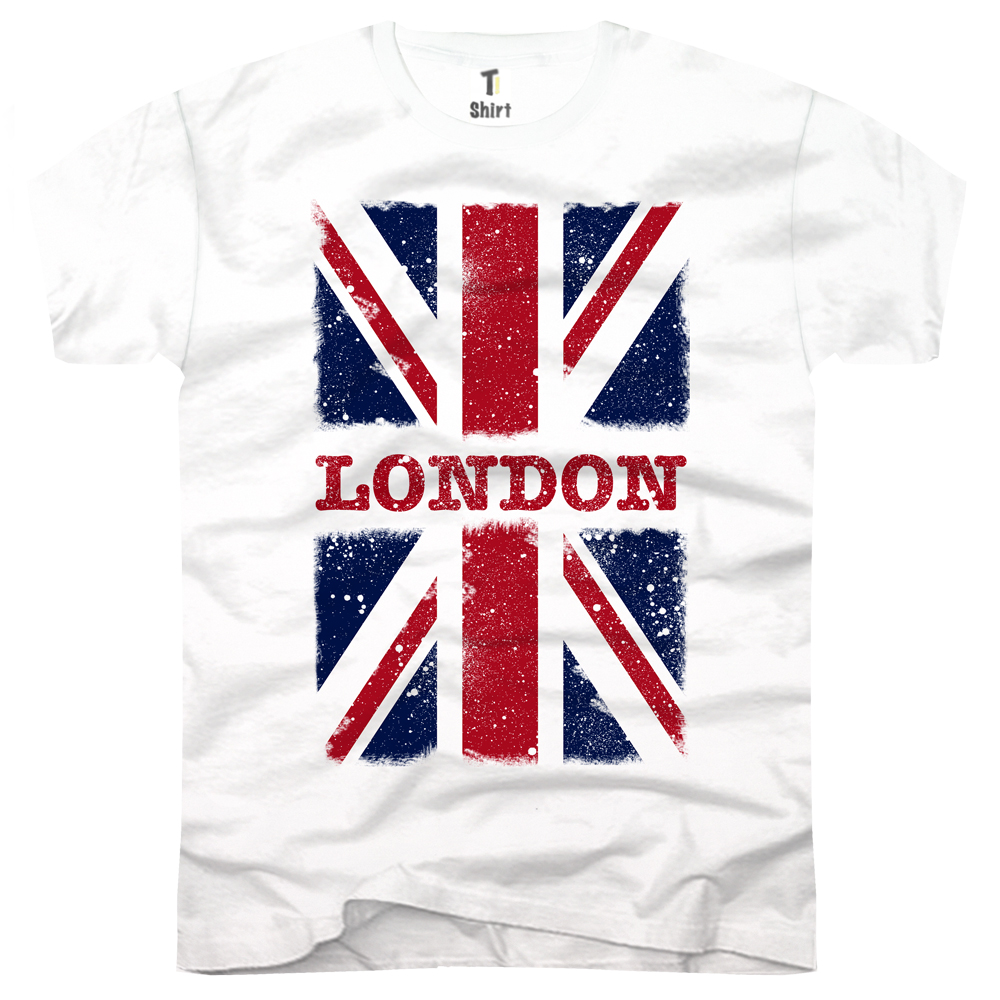 Herren T-Shirt Flagge London