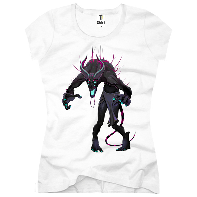 Damen-T-Shirt-Monster