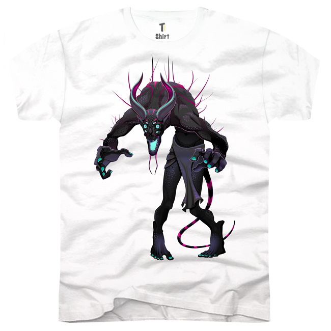 Herren-T-Shirt-Monster-Schwarz